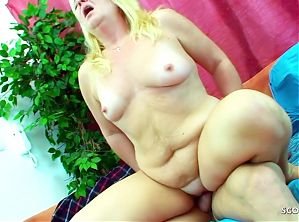 Fat Cock Stepson catches Mature Mom and Seduces her for Rough Sex