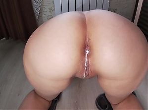 Milf and son, anal and blowjob. Cum in the ass