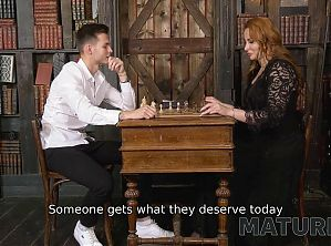 MATURE4K. Chess game ends for mature and her young rival