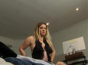MILF gives stepson the wrong pills and helps him cum
