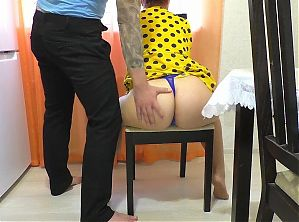 Stepmother moans when son fucks her big and tight ass
