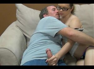 Sexy slut fucked by her fat step daddy
