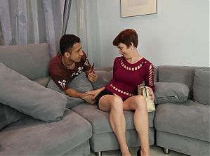 Mature woman cheating with boy on holiday