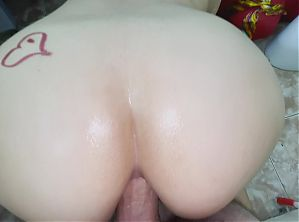 Mother was washing in the bath and stepson was watching. Anal