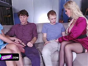 Supreme Milfs Teach Their Stepsons How To Satisfy The Girls