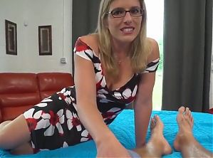slutty mom Cory Chase gives stepson a helping hand and pussy