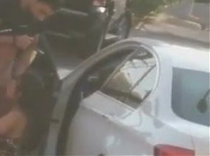 Arab Kuwaiti boy and girl having sex in the car parking