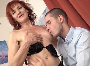 Taboo sex with hot mom and son