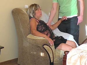 Stepmother took sons cock and lifted her skirt for anal