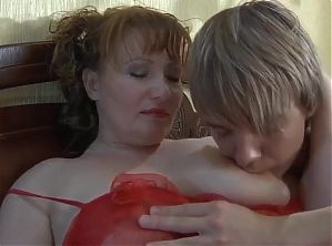 Russian BBW Mom Relaxing with Toyboy