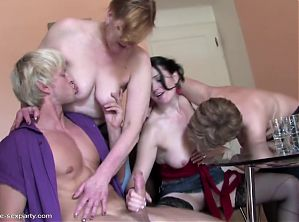 Taboo sex with 3 moms and blessed son
